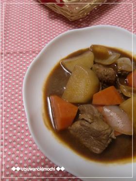 大根と豚ヒレのドミグラスソース煮
