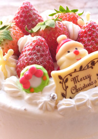 たっぷり苺のショートケーキ