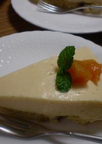 ミキサーで簡単! 柿のヨーグルトケーキ
