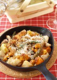 鶏と野菜のデミグラスクリームタルタル焼き