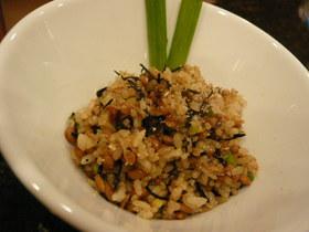 納豆&ひじきチャーハン★食物繊維たっぷり