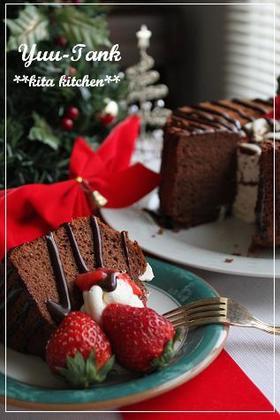 クリスマスも~チョコレートシフォンケーキ