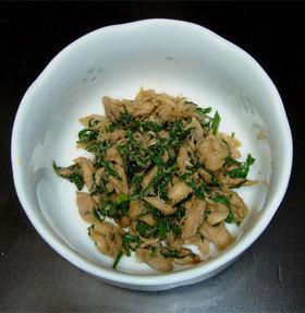 簡単☆人参の葉とツナの炒り煮