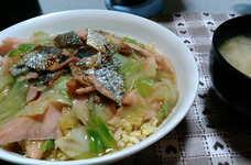 塩鮭とキャベツのあんかけチャーハン