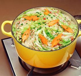 白菜と豚ばらのミルフィーユ鍋