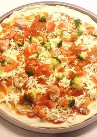 ブラックペッパーの簡単手作りピザ生地