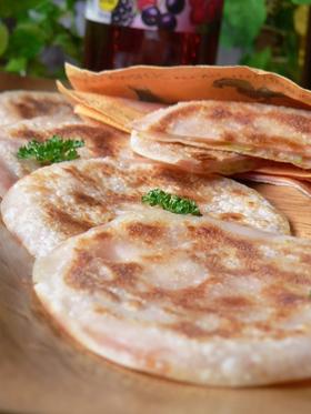 ❤ 餃子の皮のまん丸ハムチーズサンド ❤