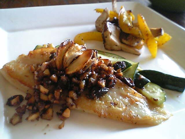 白身魚のソテー バルサミコソース