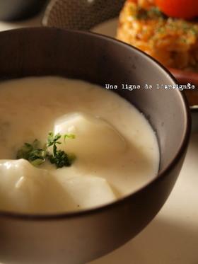 簡単!蕪とホタテ缶のクリームスープ。