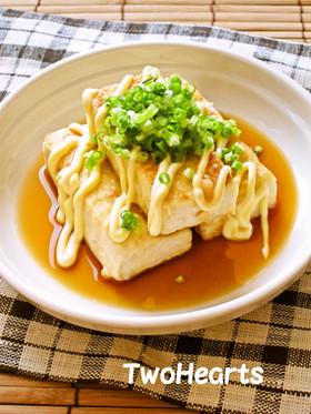 我が家の豆腐ステーキはマヨポンで♡