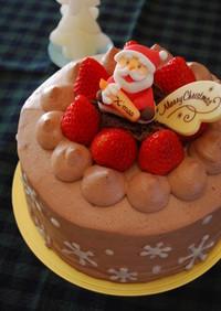 チョコづくしのクリスマスケーキ