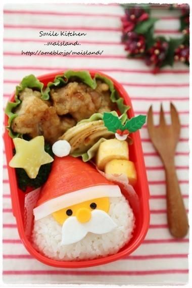 クリスマスキャラ弁*サンタさんおにぎり