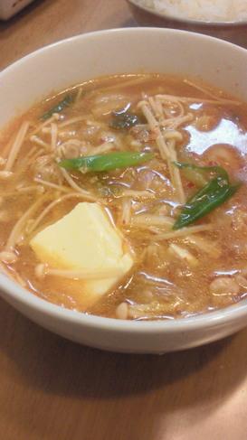 キムチと豚肉のあったかスープ♪