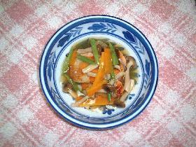 焼き鮭の野菜あんかけ