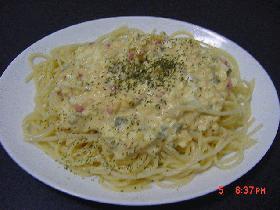 卵とツナの冷製パスタ