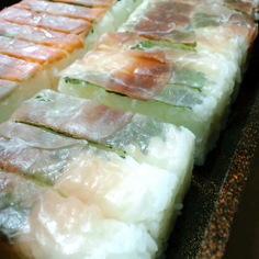 生ハムの押し寿司
