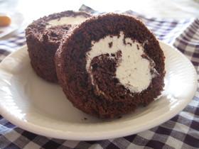 しっとり♥ココアロールケーキ