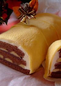 ガナッシュケーキのクレープ包み