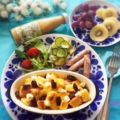 クリームチーズ&林檎入りフレンチトースト