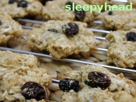 ヘルシーなオートミールレーズンクッキー:Oarmeal-Raisin Cookies (アメリカンレシピ)