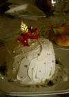 超簡単 アイスクリームのクリスマスケーキ
