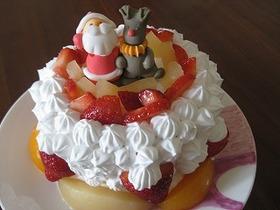 簡単・卵なし☆クリスマスケーキ