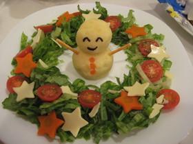 クリスマス リースサラダ