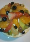 フルーツたっぷりレアチーズ