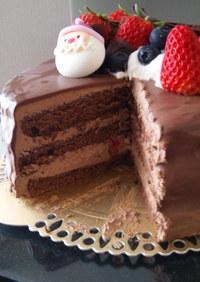2009 クリスマス チョコレートケーキ