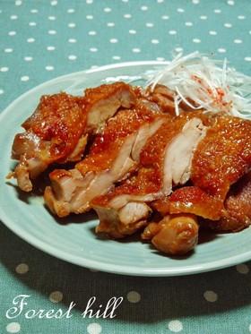 蒸し鶏の照り焼き