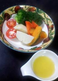 オリーブオイルと柚子のドレッシング