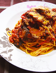 簡単!トマト缶とナスとひき肉ボロネーゼ★の写真