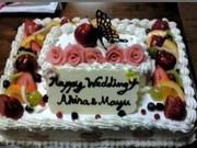 ウェディングケーキの写真