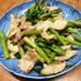 空芯菜と豚肉の生姜炒め