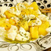 桃(フルーツ)のカプレーゼ風サラダ
