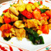 トリ肉と銀杏の中華炒め
