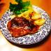豚肉の梅肉照り焼き