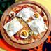 チーズと卵で簡単♪とびでるおばけピザ