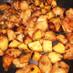 簡単おかず!鶏とサツマイモの照りマヨ炒め