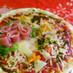 花束とプレゼントピザ