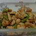 グリーンアスパラと鶏肉のマヨネーズ炒め
