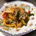 挽き肉とパプリカのピリ辛炒め