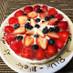 苺とブルーベリーのレアチーズケーキ☆
