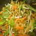 しいたけ、たまねぎ、水菜のごまサラダ