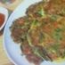 納豆とニラのチヂミ