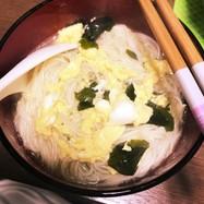 簡単5分!素麺アレンジ☆卵とじにゅうめん