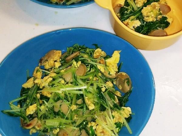 子供が大好き!水菜と卵の炒め物♪