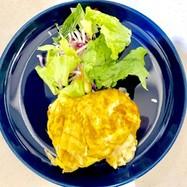 卵1個でアートなチーズ入り卵焼き