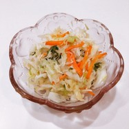 キャベツと人参の浅漬け風サラダ☆作り置き