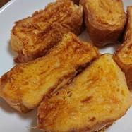 簡単♪フレンチトースト☆フランスパンで☆